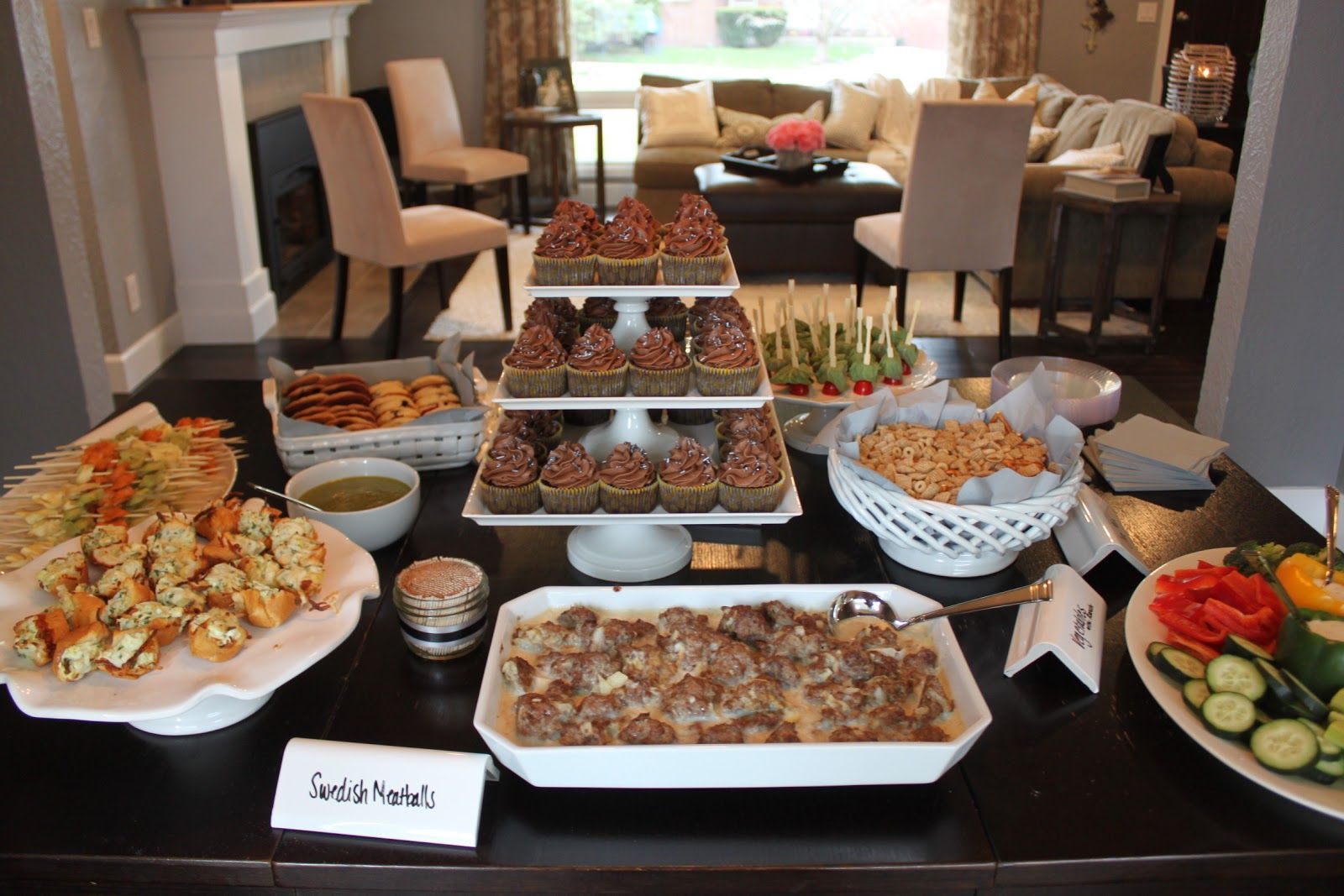 A great idea for food for your own housewarming party for Housewarming party food menu