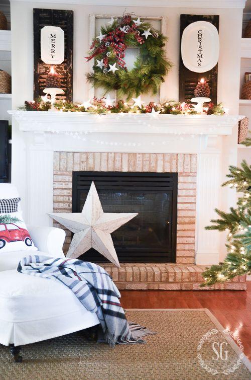 Home For The Holidays House Tour Christmas Mantle Decor Christmas Tours Christmas Fireplace
