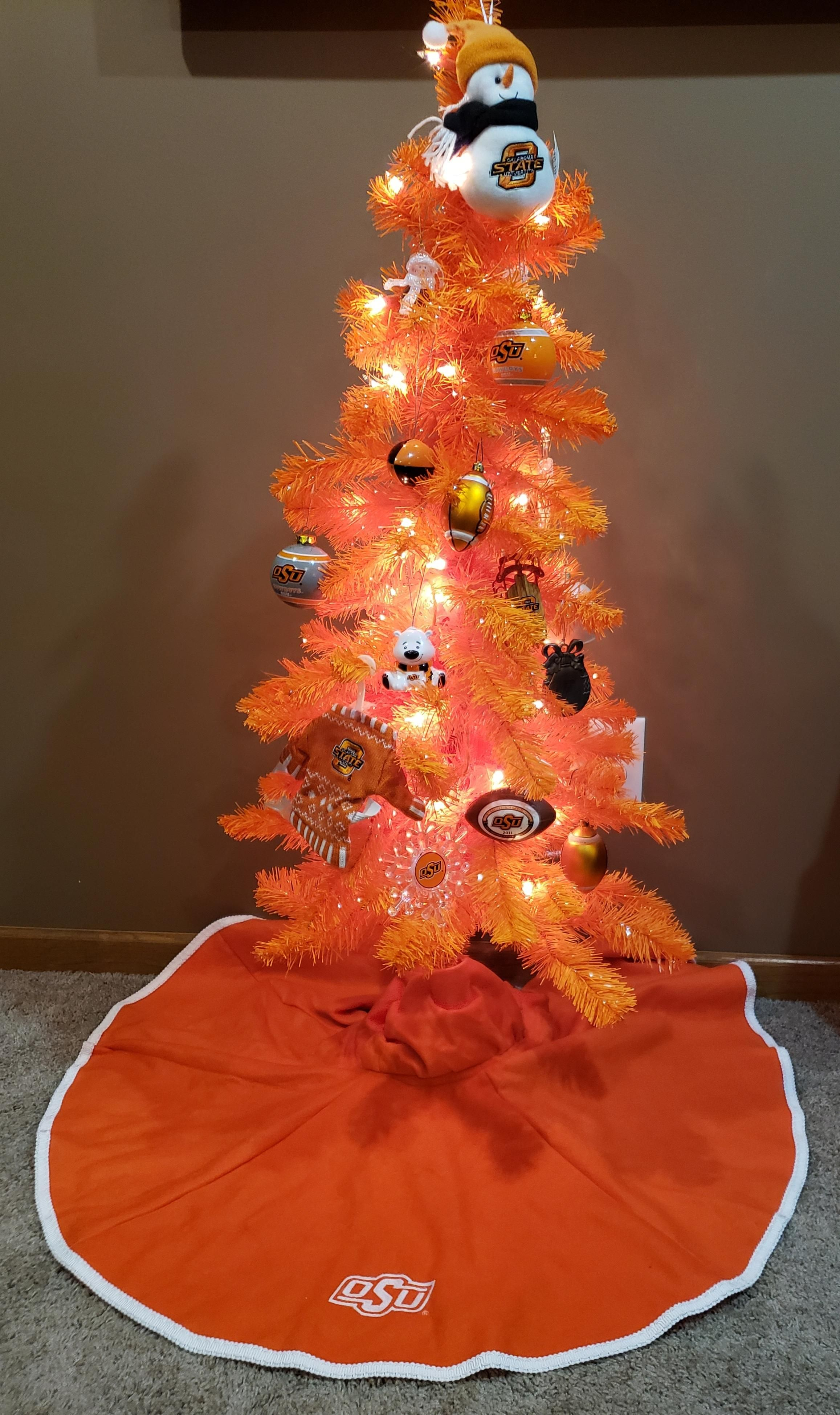 OSU Oklahoma State University Tree Skirt LARGE