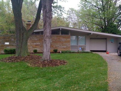House Exterior Mid Century Stack Stone Use Veneers On A