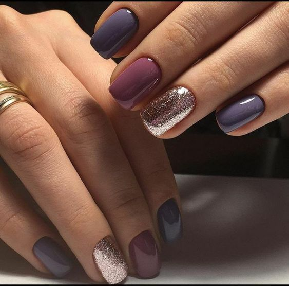 Love These Fall Toned Nails In 2020 Cute Nails For Fall Sns Nails Colors Manicure Colors