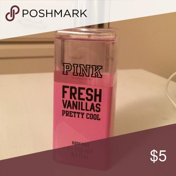 Pink Fresh Vanillas Body Spray 250 ml nearly full PINK body spray. PINK Victoria's Secret Other