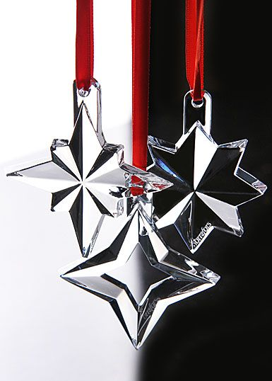 Orrefors Seven Sisters Star Ornaments, Set of 3 - Orrefors Seven Sisters Star Ornaments, Set Of 3 2012 Ornaments