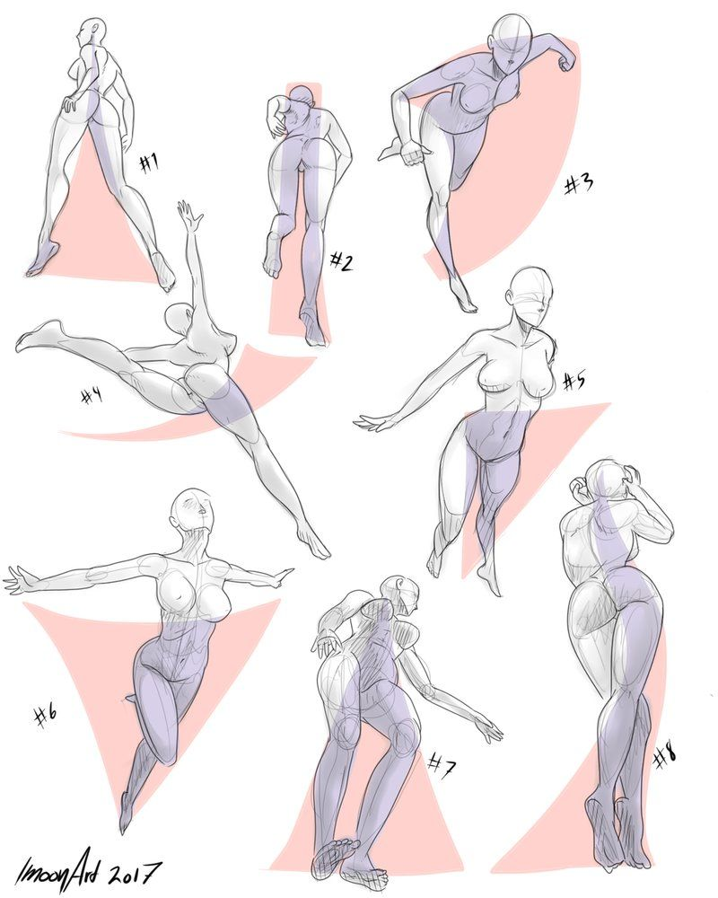 perspective pose references 5 by imoonart reference poses in