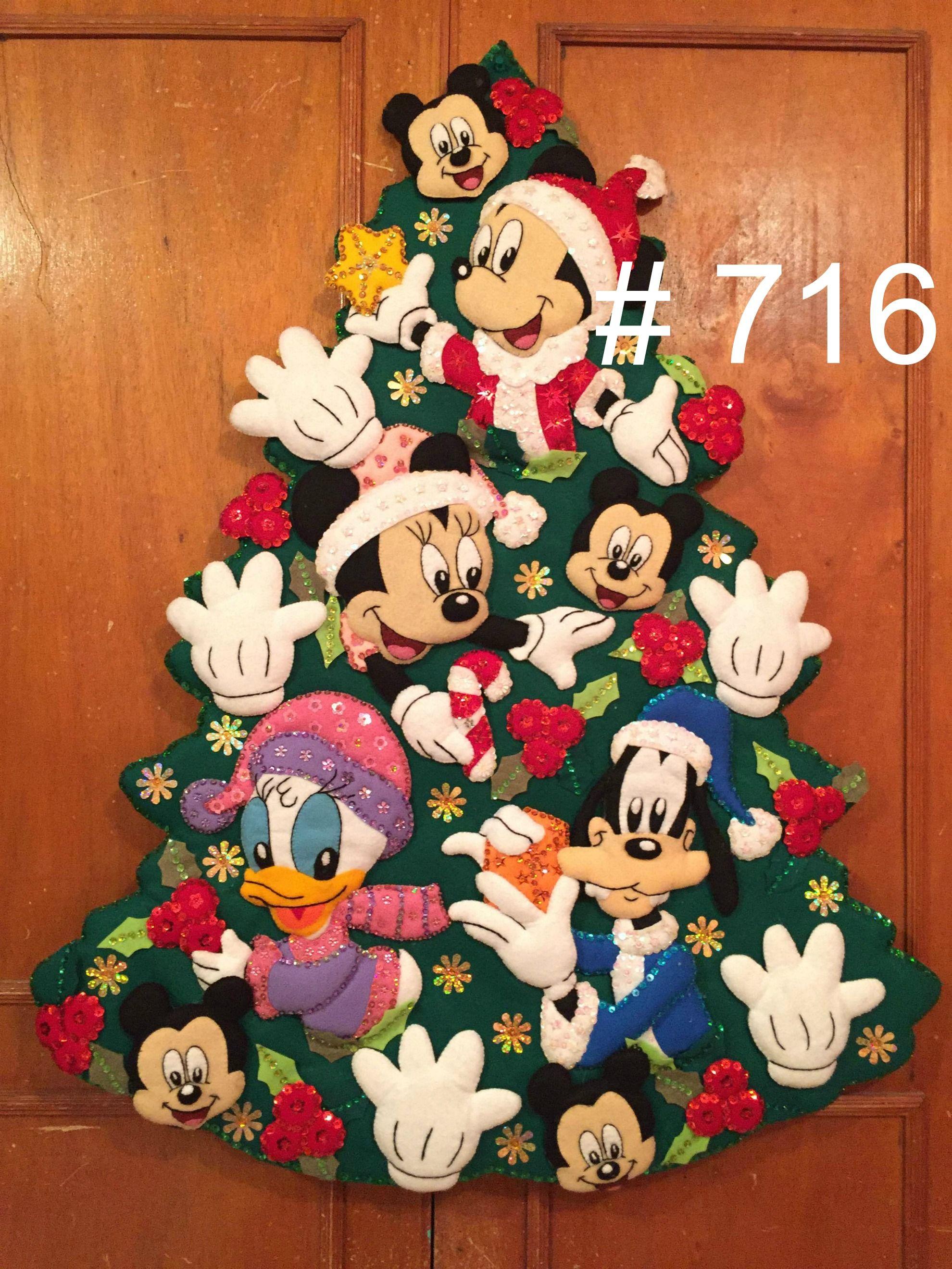 Arbol disney | Disney | Pinterest | Navidad, Fieltro y Fieltro navidad