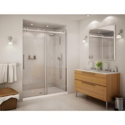 Maax Halo 59 In X 78 3 4 In Semi Framed Sliding Shower Door