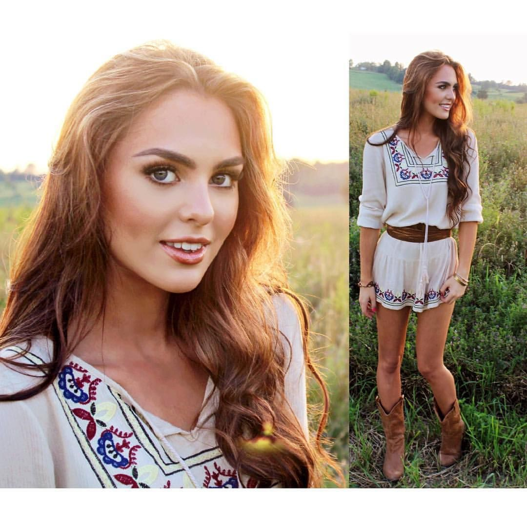 """Jackie Wyers on Instagram: """"Country Glam look inspired by @lucyhale  obsessed with this dress by @shopruche paired with a belt from @anthropologie (will be featured in upcoming #singandstyle!) #summerstyle #ruchette ps. Thank goodness for @sttropeztan for this glow"""""""