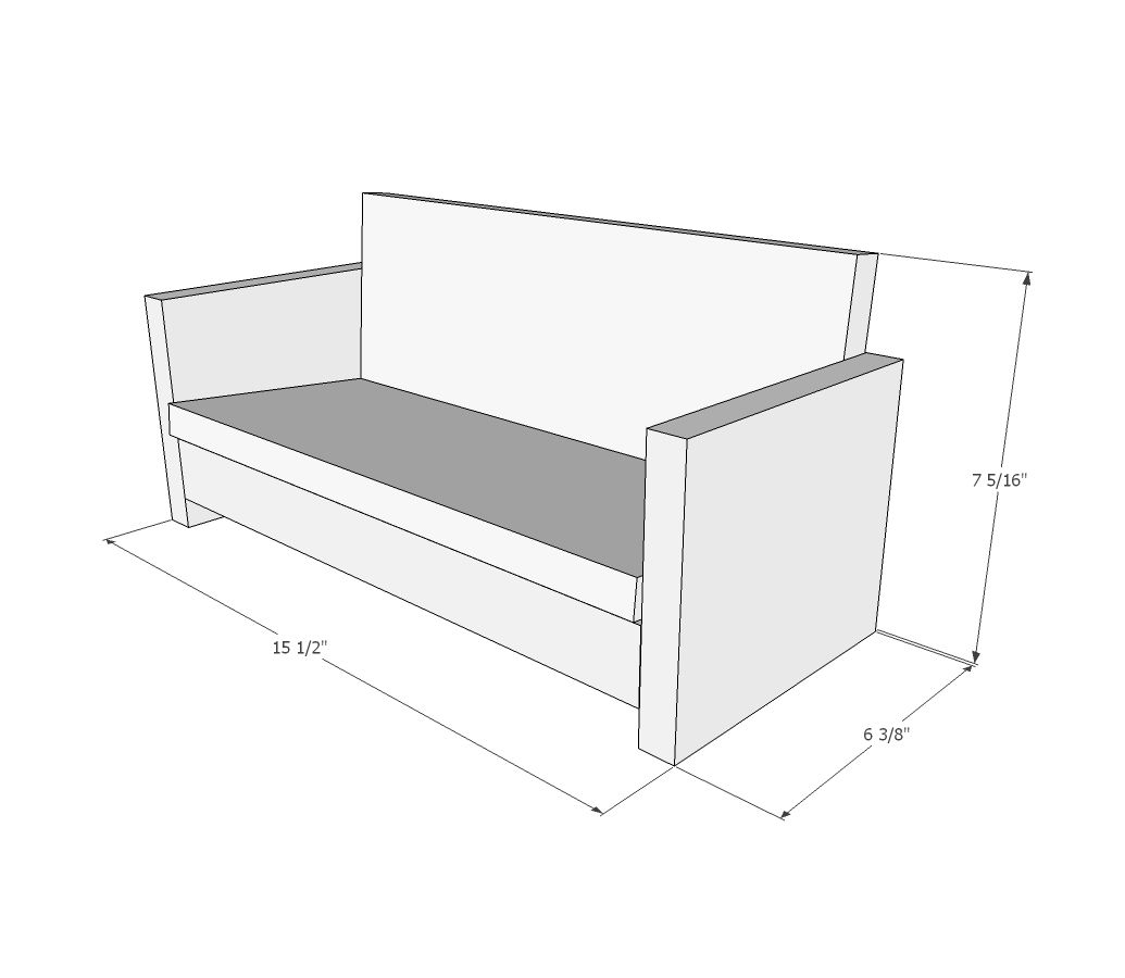 18 Doll Sofa Diy Mitchell Gold Bob Williams Review Ana White Build A American Girl Or Couch Plans Free And Easy Project Furniture