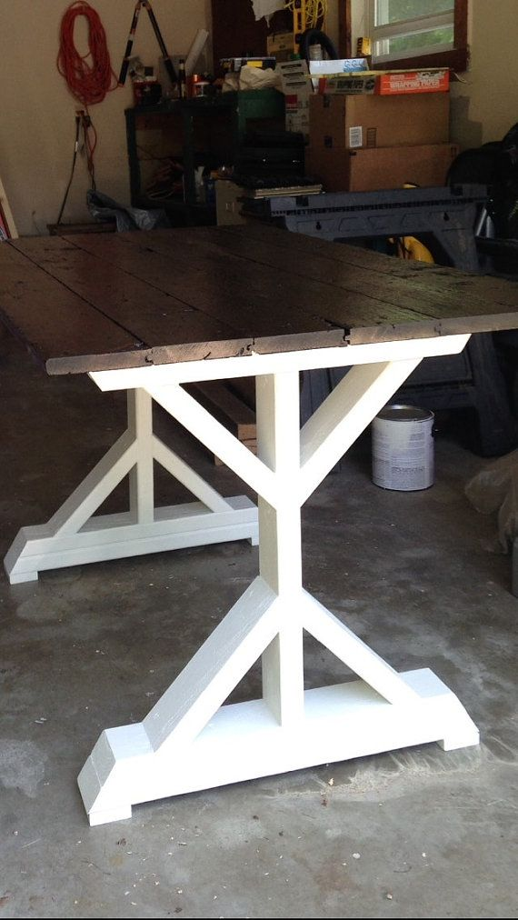 Farmhouse X Frame Table Legs Wood Table Legs Trestle