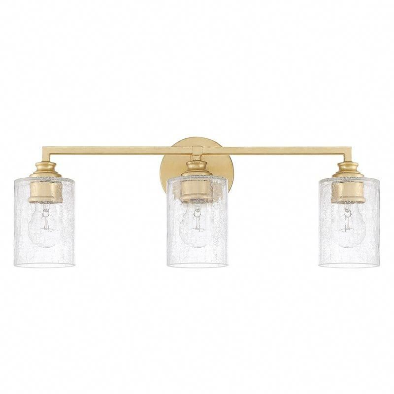 "Photo of Capital Lighting 120531CG-422 Capital Gold 3 Light 23 ""Wide Bathroom Basin Light"