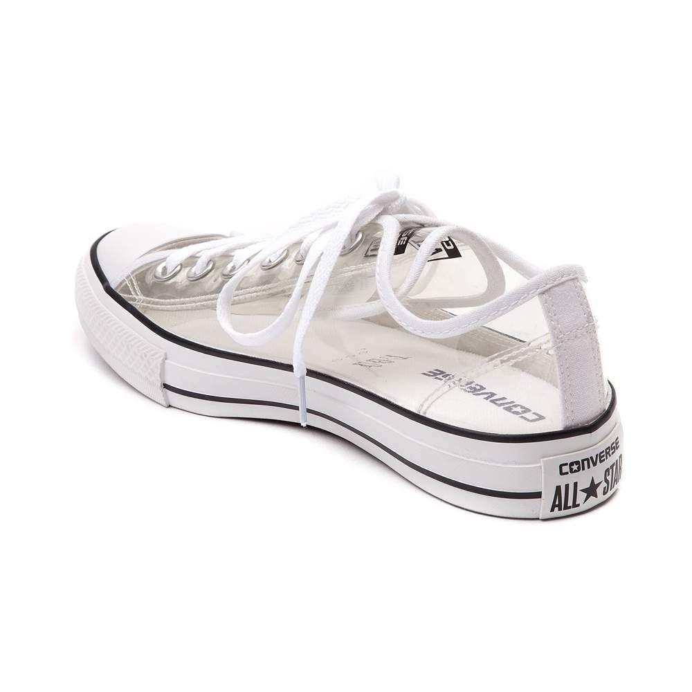clear white converse