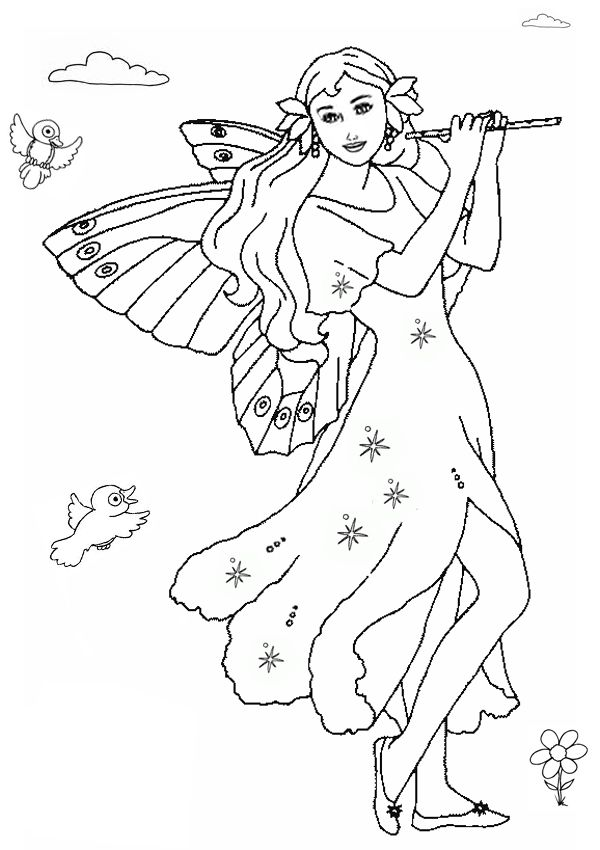 Fairies Coloring Pages Printable | neth | Pinterest | Mandalas y ...