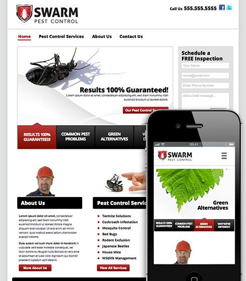 this adobe muse templatetheme swarm is brought to you by musegridcom this template is especially useful for domestic services such as pest control