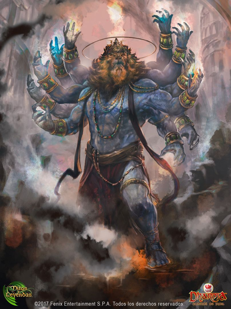 Artstation Narasimha Cristian Huerta Lord Vishnu Wallpapers Lord Shiva Hd Wallpaper Shiva Lord Wallpapers