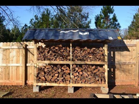 How To Build A Firewood Storage Shed Youtube Firewood Storage Outdoor Firewood Storage Firewood