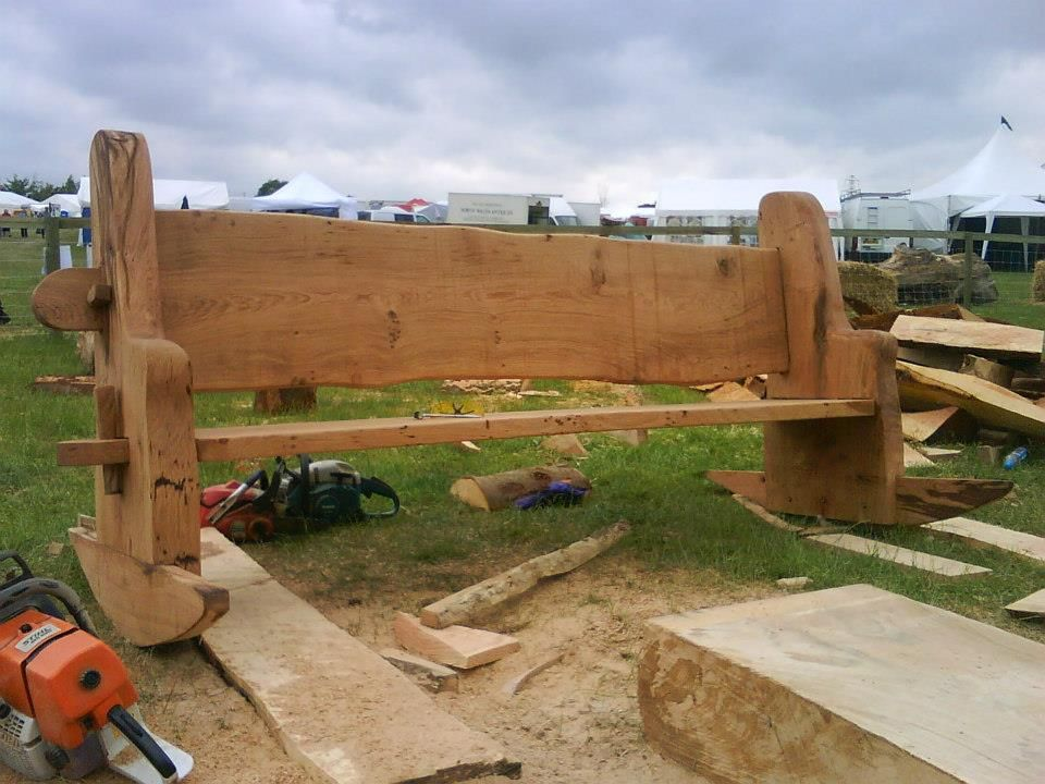 Chainsaw Carved Rocking Bench Carved From Oak