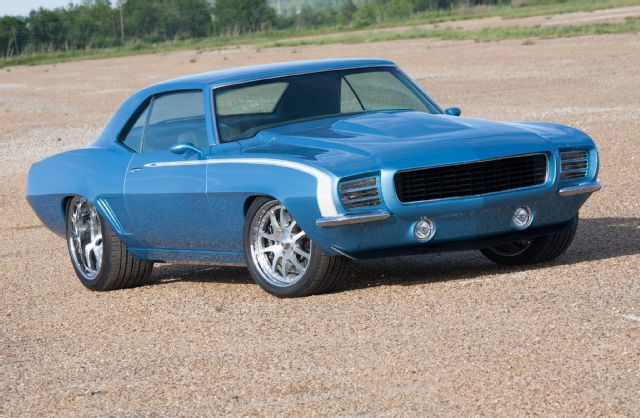 1969 Chevrolet Camaro Quasar Blue Front Quarter Low Storage Rates and Great Move…