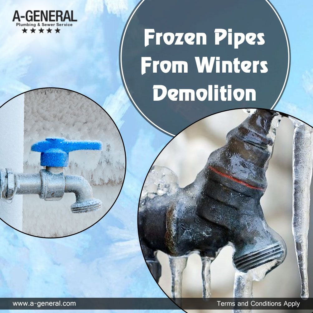 Keep a check on those frozen pipes from winters