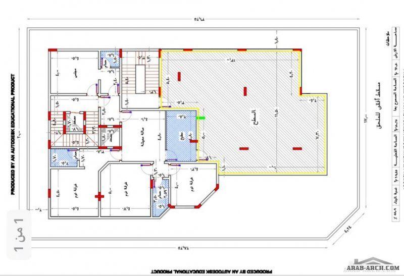 بيت العمر مخطط لأرض 620 على شارعين المخطط عبارة عن دورين وشقة بالملحق My House Plans House Map Classic House Design