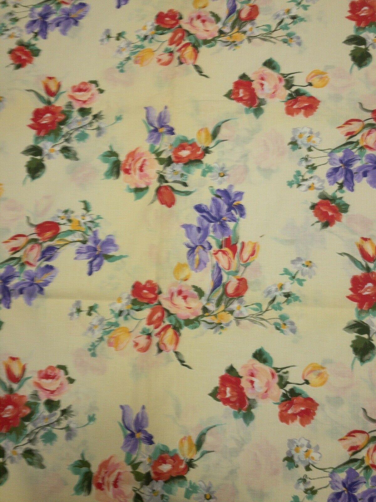 Spring Summer Floral Cotton Fabric Apparel Jbj Fabrics Oop 4 Yards In 2020 Summer Floral Floral Stripe Fabric