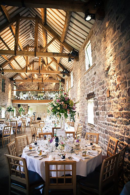 A Relaxed English Wedding Vintage Style Bunting And Beautiful Lace Barn Wedding Decorations Rustic Wedding Venues English Wedding