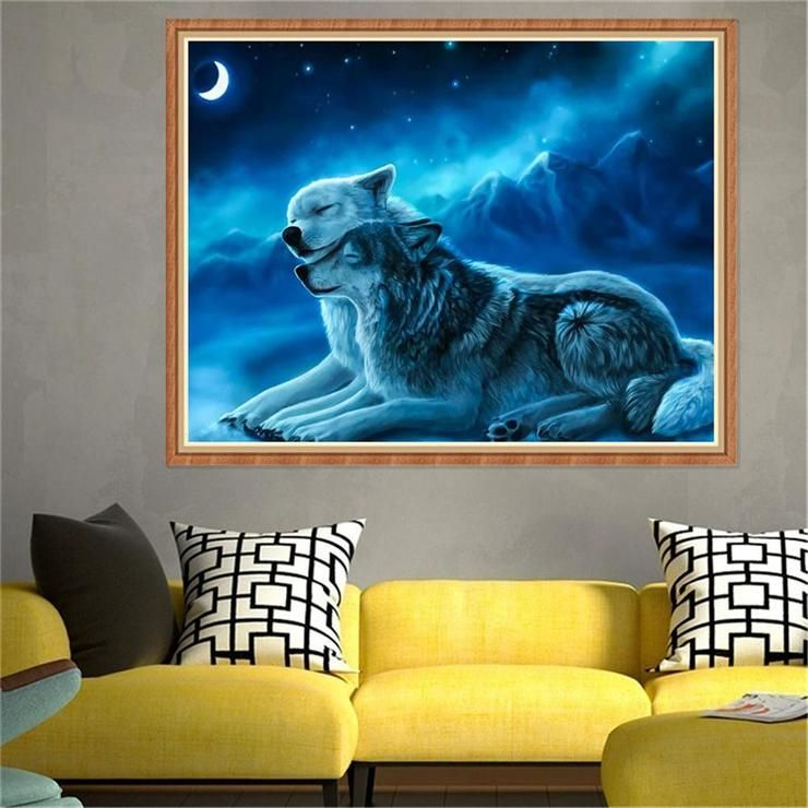 5D DIY Diamond Painting Animal Rhinestone Embroidery Cross Stitch Art Craft for Home Wall Decoration 2#