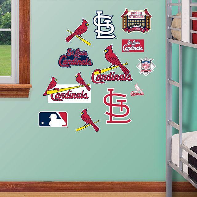 St Louis Cardinals Team Logo Assortment Fathead Wall Graphic St Louis Cardinals Wall Decal Sports Deco
