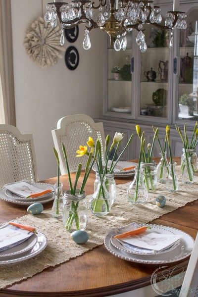 Easter Table Setting and Free Printable   Easter table, Bunny and Easter