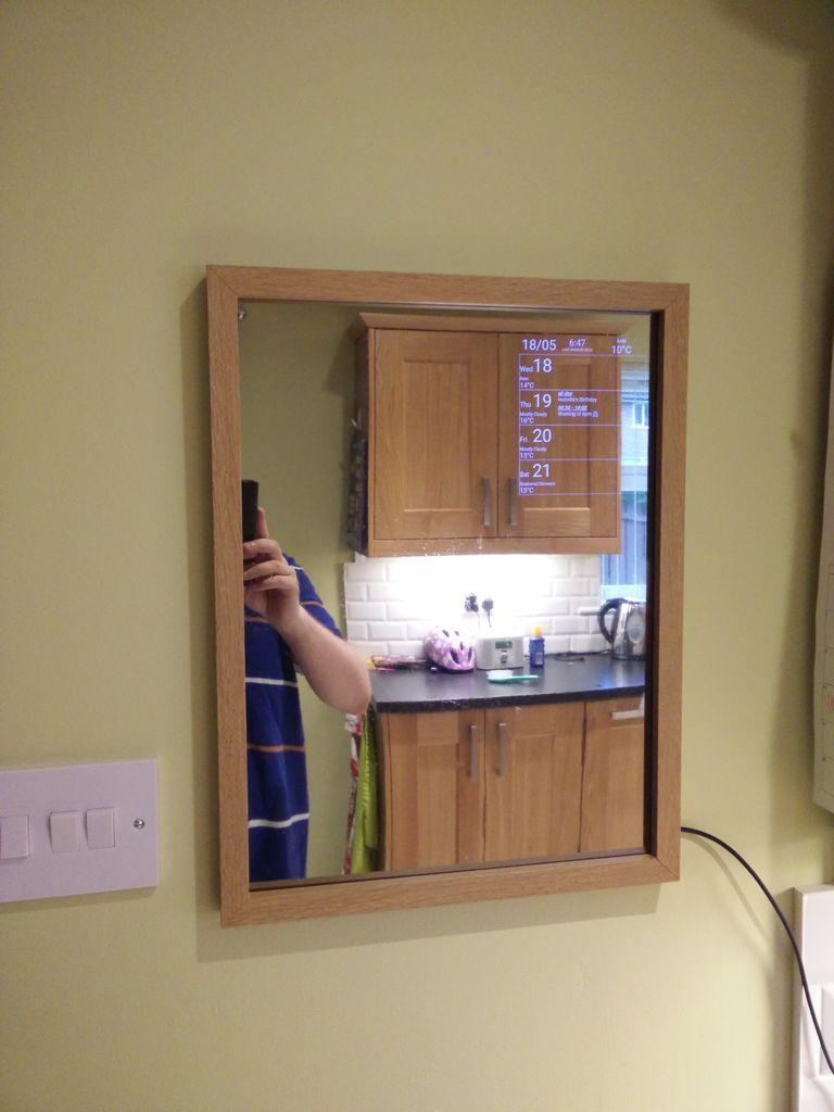 Android motion sensing smart mirror smart mirror diy