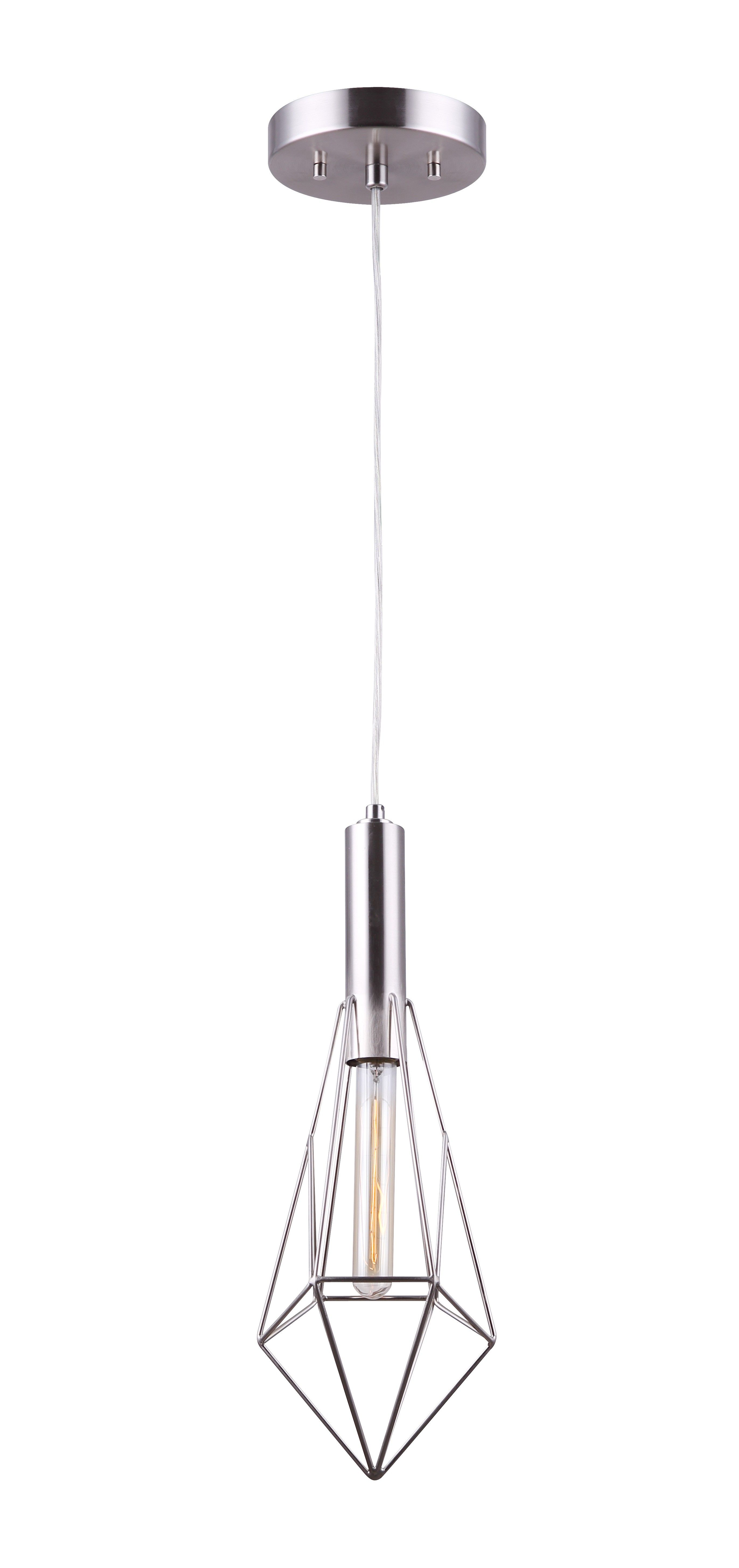 Canarm iplabn greer light pendant brushed nickel in