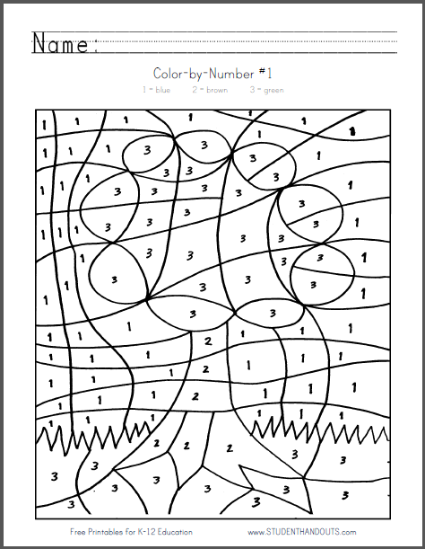 Color By Number Sheet Tree Free To Print Pdf File Coloring Pages Coloring Books Color By Numbers