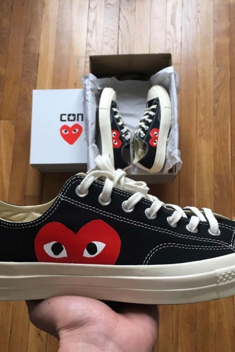 best authentic ea330 5e92b CONVERSE COMME DES GARCONS LOW ALL STAR CDG PLAY SNEAKER 150206C   conversegarcons  converse