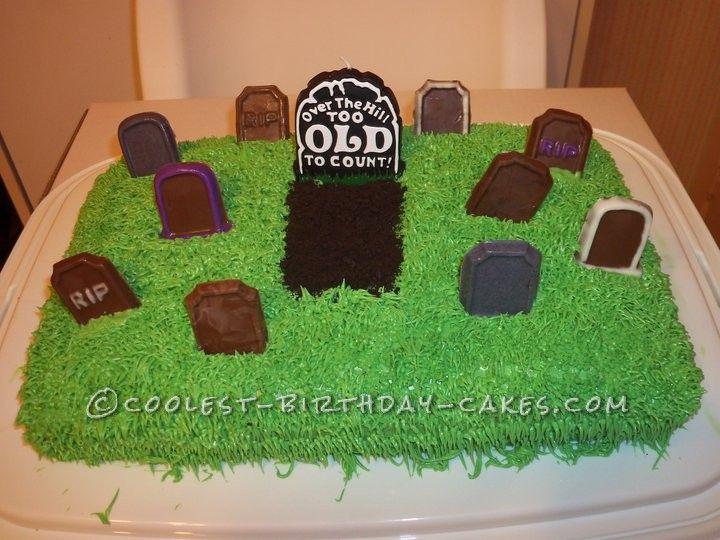 Marvelous Funny 50Th Birthday Graveyard Cake With Images 50Th Birthday Personalised Birthday Cards Veneteletsinfo