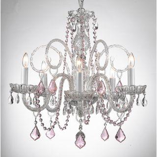 Gallery venetian style all crystal chandelier with color crystal gallery venetian style all crystal chandelier with color crystal crsytal chandelier silver aloadofball Choice Image