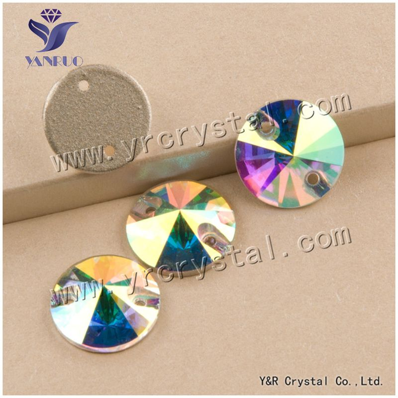 dbdb1c2ac4 YANRUO #3200 8mm 168Pcs Rivoli Top Quality Flatback Glass Stone ...
