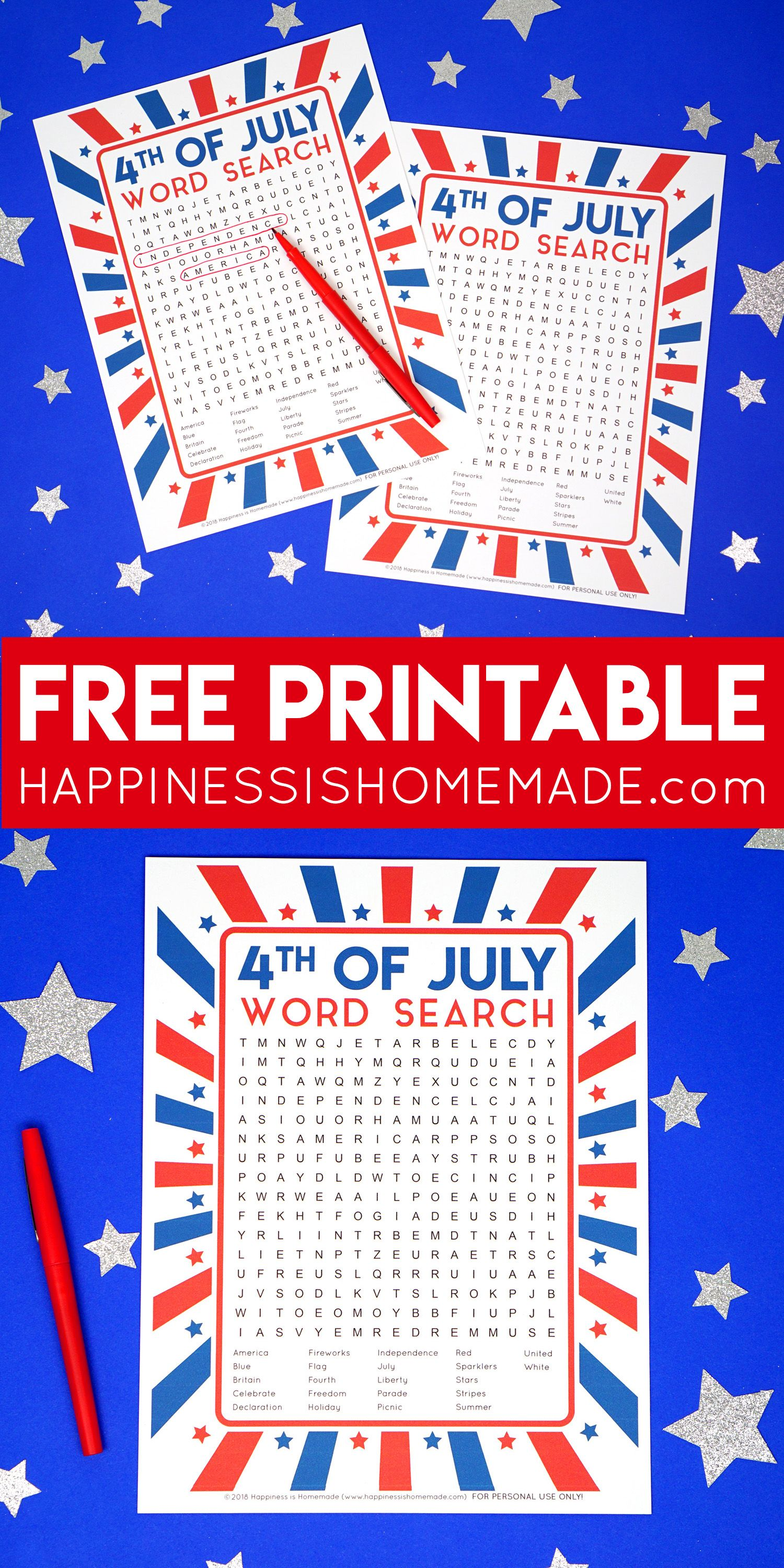This Fun Printable 4th Of July Word Search Puzzle Is A Ton Of Fun For Kids And Families Great