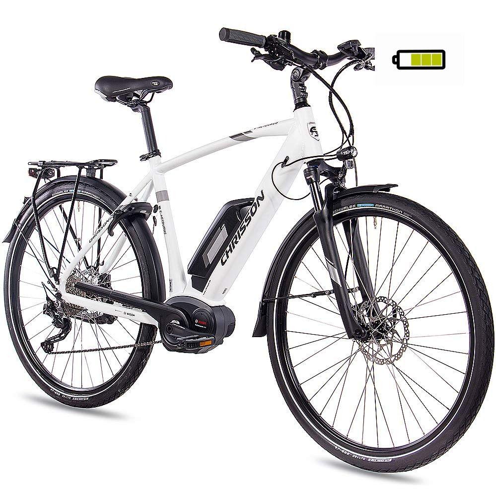 Chrisson 28 Zoll Herren Trekking Und City E Bike E Actourus Weiss Matt Elektro Fahrrad Herren 10 Gang Shimano Deore Schal In 2020 Pedelec Fahrrad Elektrofahrrad