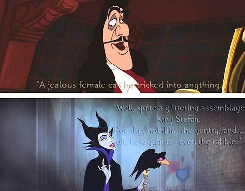 Captain hook and maleficent