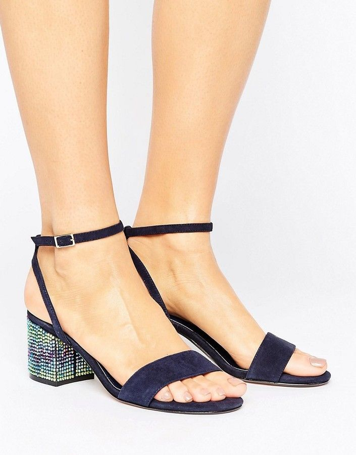 911e542f36a6 Dune Marble Suede Gem Block Heeled Sandals