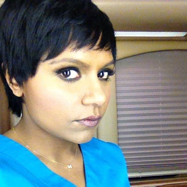 Marvelous Mindy Kaling Shows Off Her Pixie Cut Selfie Nation Pinterest Short Hairstyles Gunalazisus