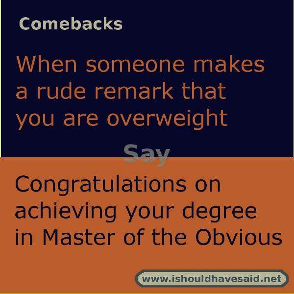 Fat insults and comebacks