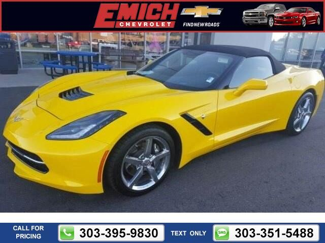 2015 Chevrolet Chevy Corvette 3LT $57,999 2978 miles 303-395-9830  #Chevrolet #Corvette #used #cars #EmichChevrolet #Denver #CO #tapcars
