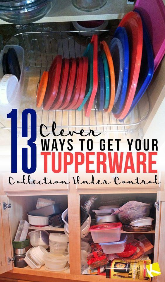 13 clever ways to get your tupperware collection under control diy kitchen storage tupperware on kitchen organization tupperware id=86416