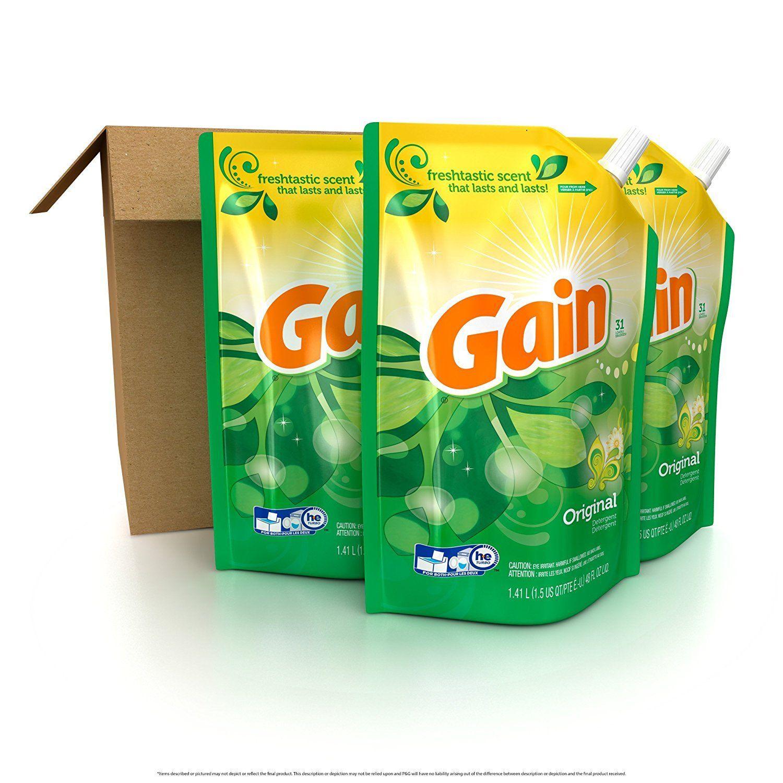 Gain smart pouch liquid laundry detergent original 48