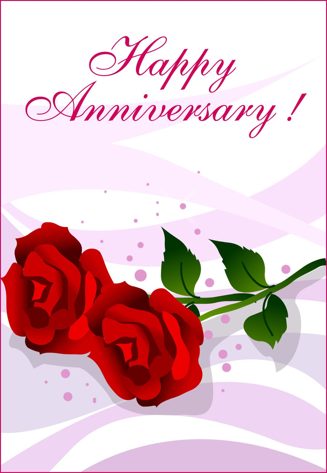 Free Printable Happy Anniversary Greeting Card
