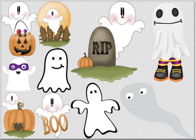 Clipart de Fantasmas para Halloween. | moldes | Pinterest ...