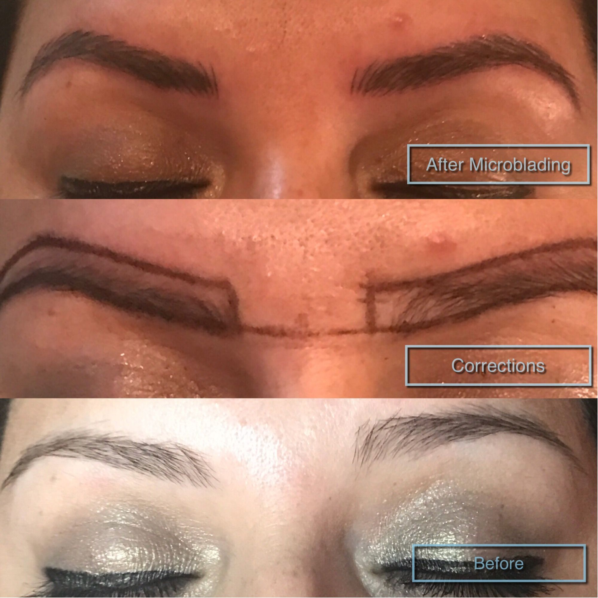 b6fd3c2c562 Fix uneven brows with #Microblading Bossbrowsla.com. Find this Pin and more on  brows on fleek ...