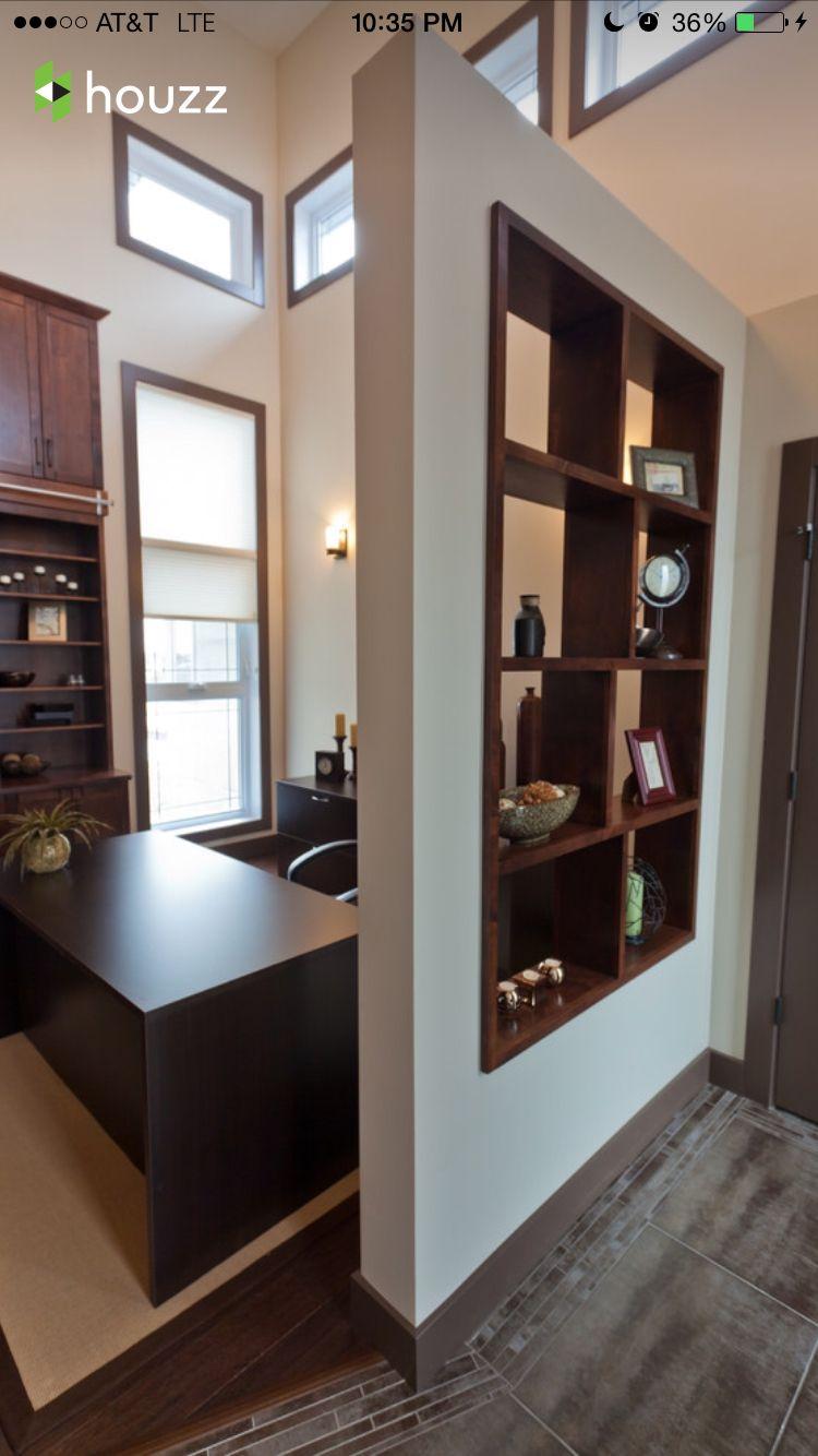 Entry wall + shelf