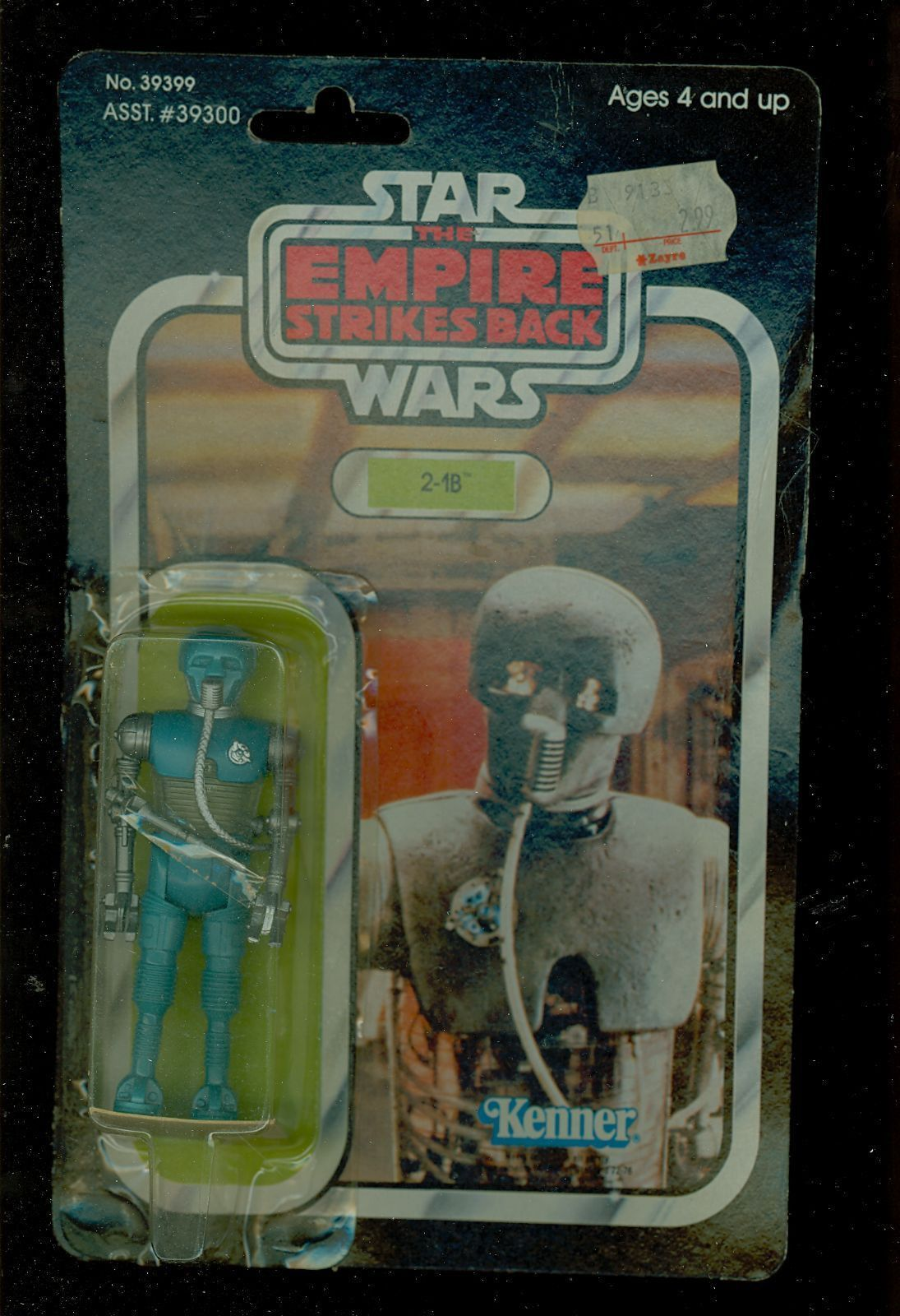 Kenner- 2-1B Empire Strikes Back #39399 41 Back Action Figure Sealed on Card
