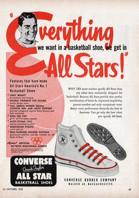 Converse (1952) | Vintage advertisements, Vintage ads, Old ads
